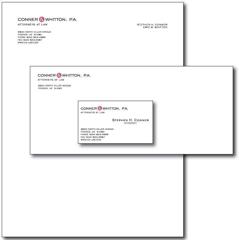 Conner Whitton Stationery Layout