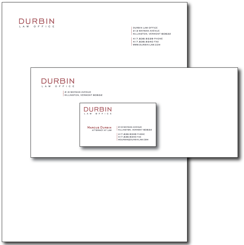 Durbin Stationery Layout
