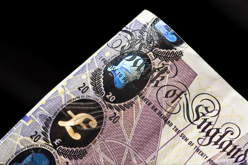 Hologram on euro currency
