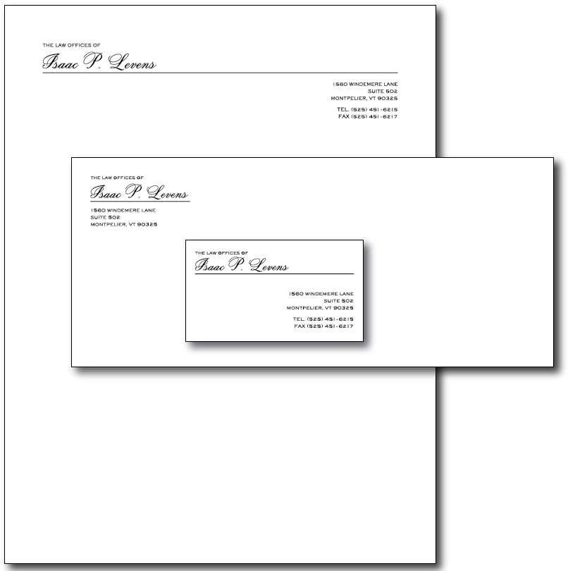 Isaac Levens Stationery Layout