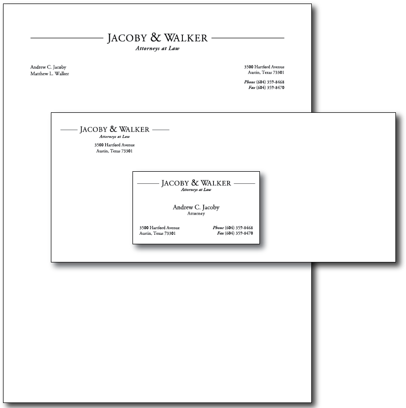 Jacoby Walker Stationery Layout