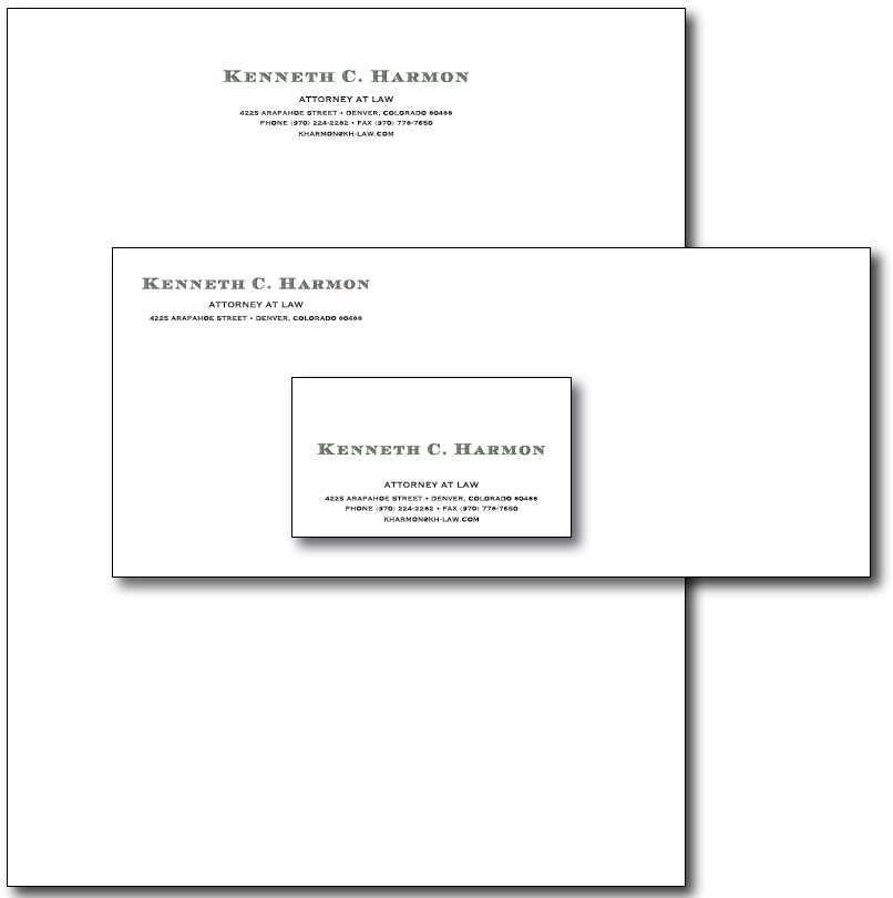 Kenneth Harmon Stationery Layout