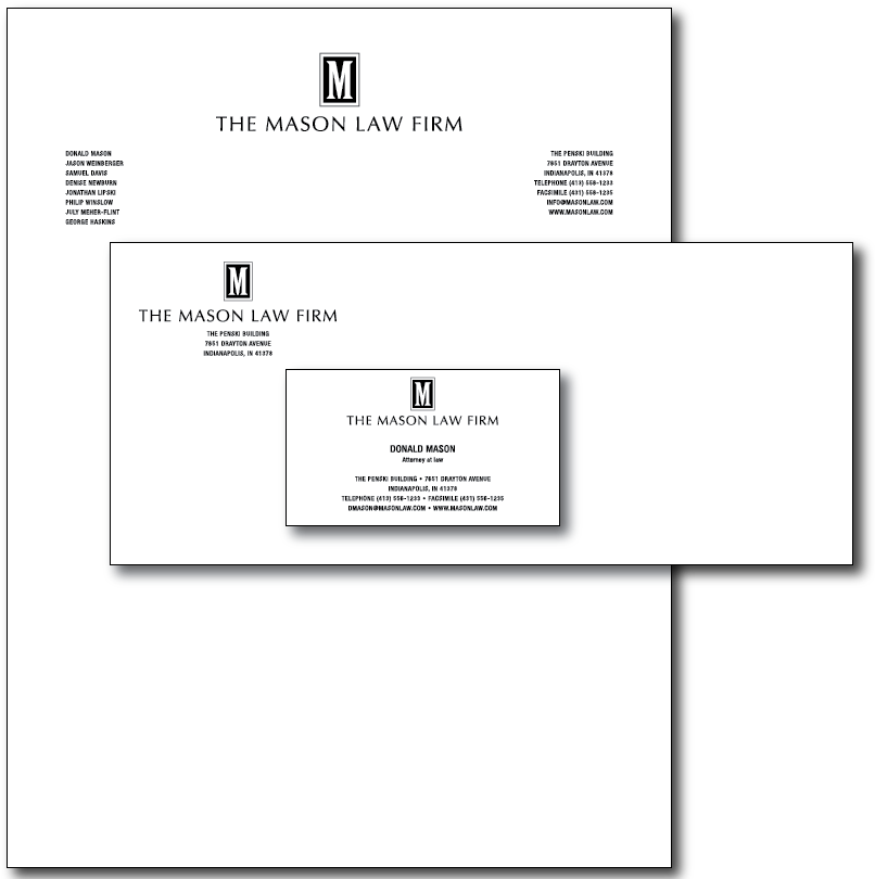 Mason Law Stationery Layout