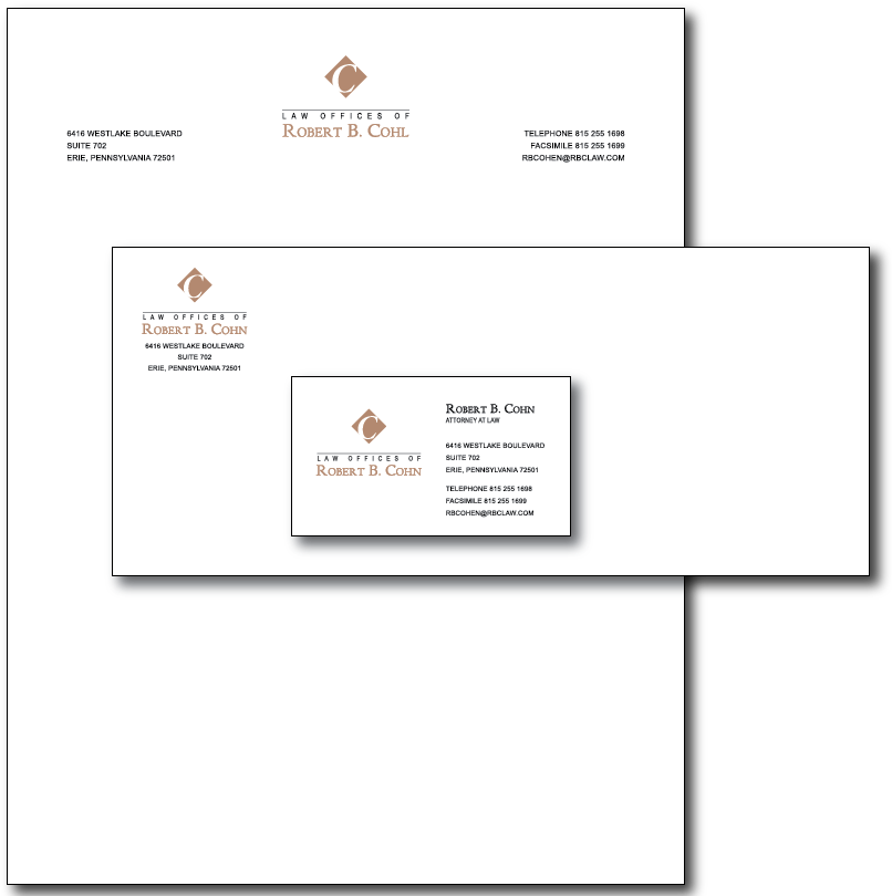 Robert Cohl Stationery Layout