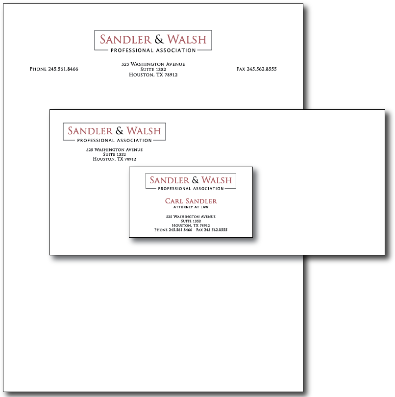 Sandler Walsh Stationery Layout