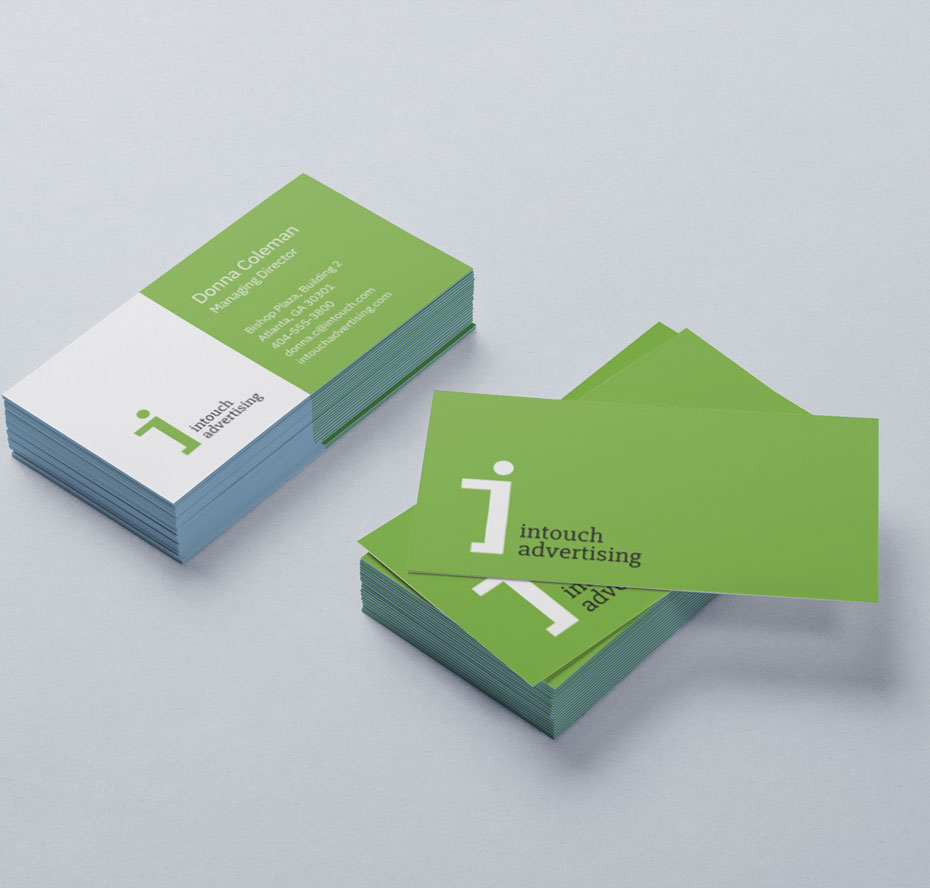 intouch advertising business cards