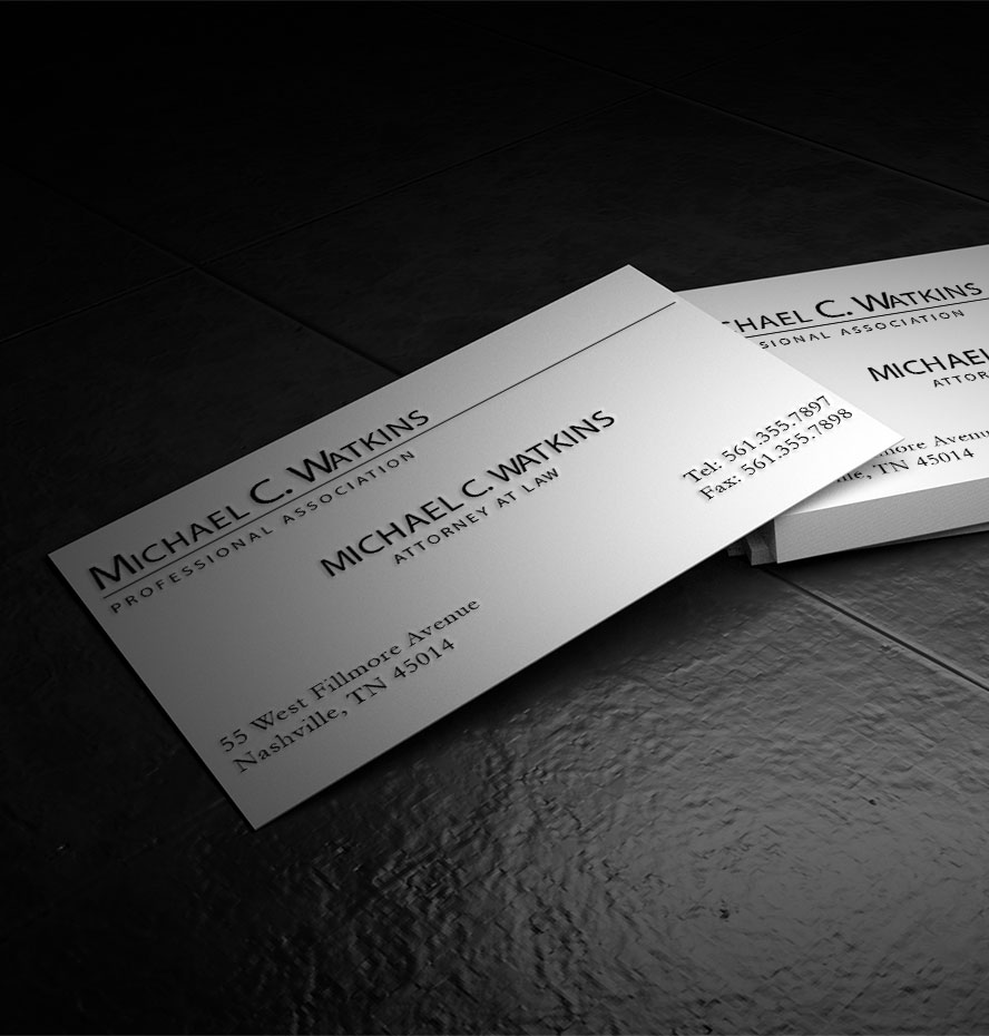 Photorealistic Embossed Business Card MockUp