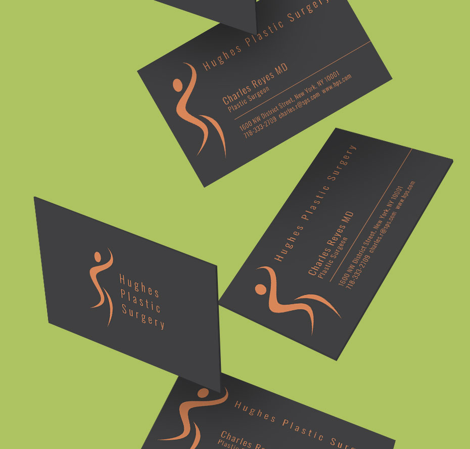 hughes black business cards