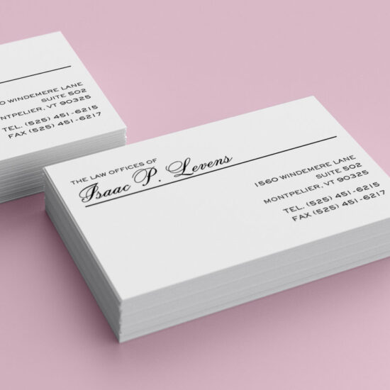 isaac business cards